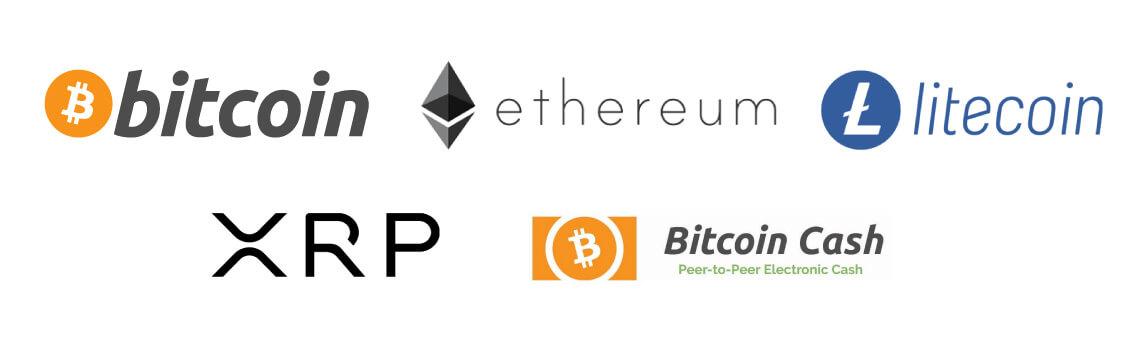 インターカジノ入金手段:仮想通貨(ビットコイン、イーサリアム、ライトコイン、リップル、ビットコインキャッ シュ)