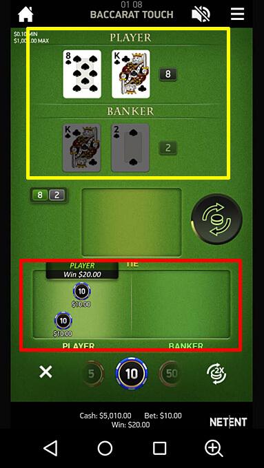 バカラのゲームの進み方3 Baccarat Pro