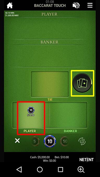 バカラのゲームの進み方2 Baccarat Pro